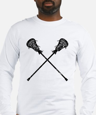 Distressed Lacrosse Sticks Long Sleeve T-Shirt