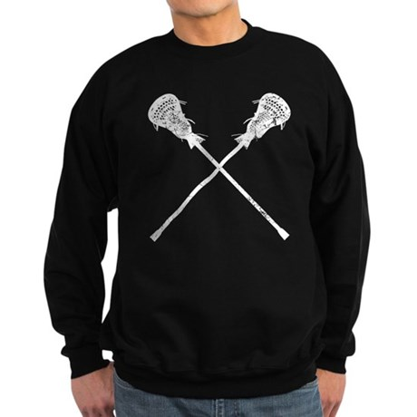 Distressed Lacrosse Sticks Sweatshirt (dark)