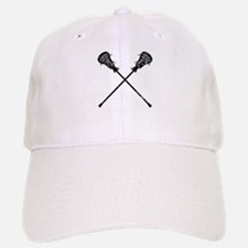 Distressed Lacrosse Sticks Baseball Baseball Cap