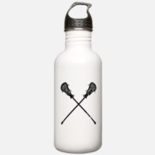 Distressed Lacrosse Sticks Sports Water Bottle