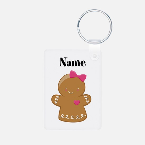 Personalized Gingerbread Girl Keychain