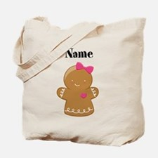 Personalized Gingerbread Girl Tote Bag
