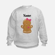 Personalized Gingerbread Girl Sweatshirt
