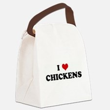 Funny Chickens Canvas Lunch Bag