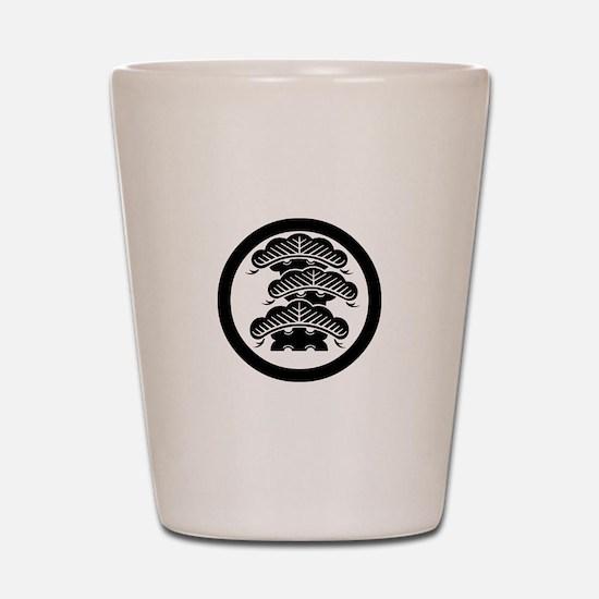 Three-tiered pine R with arashi in circle Shot Gla
