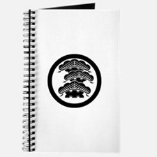 Three-tiered pine R with arashi in circle Journal
