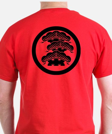 Three-tiered pine R with arashi in circle T-Shirt