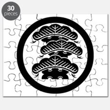 Three-tiered pine R with arashi in circle Puzzle