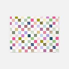Rainbow Quilt 5'x7'Area Rug