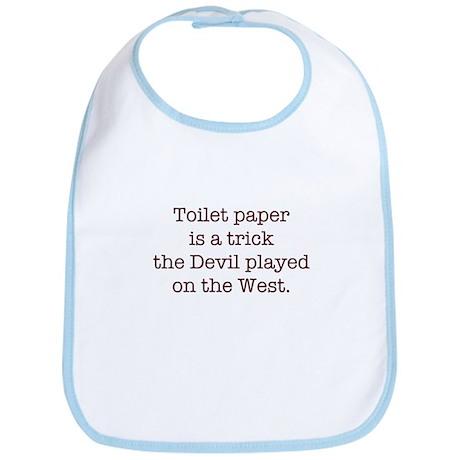 The Toilet Paper Trick Bib