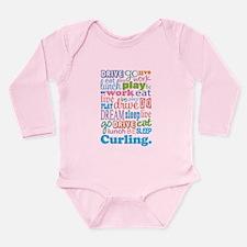 Curling Long Sleeve Infant Bodysuit