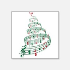 Christmas tree with music notes and heart Square S