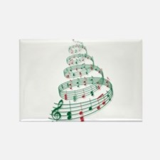 Christmas tree with music notes and heart Rectangl