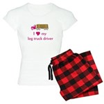 Love My Log Truck Driver Women's Light Pajamas