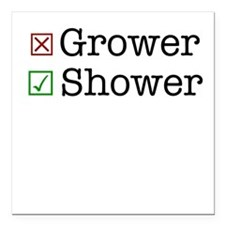 "Shower Square Car Magnet 3"" x 3"""