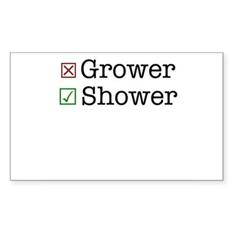 Shower Sticker (Rectangle)