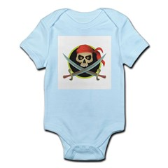 Pirate Skull and Swords Infant Creeper