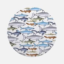 School of Sharks 1 Ornament (Round)