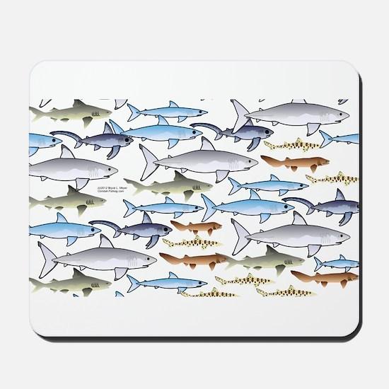 School of Sharks 1 Mousepad