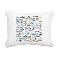 School of Sharks 1 Rectangular Canvas Pillow