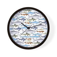 School of Sharks 1 Wall Clock
