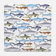 School of Sharks 1 Tile Coaster