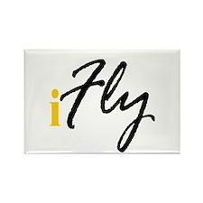 I Fly (black) Rectangle Magnet