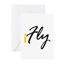 I Fly (black) Greeting Cards (Pk of 10)