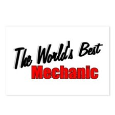 """""""The World's Best Mechanic"""" Postcards (Package of"""
