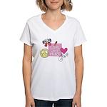 Love Joy Peace.png Women's V-Neck T-Shirt