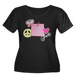 Love Joy Peace.png Women's Plus Size Scoop Neck Da