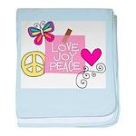 Love Joy Peace.png baby blanket