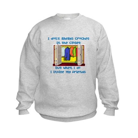 closetcrocheter Kids Sweatshirt