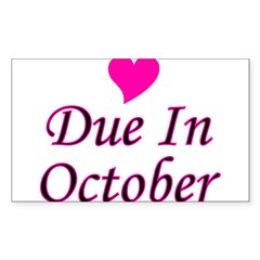Due In October Rectangle Decal