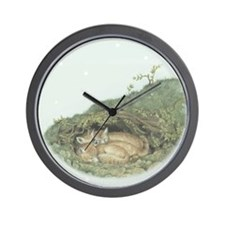 Sleeping Foxes wall clock