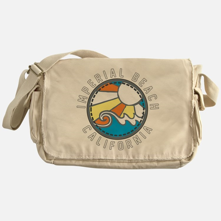 Imperial Beach Wave Badge Messenger Bag
