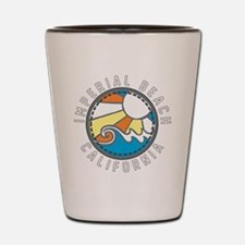 Imperial Beach Wave Badge Shot Glass
