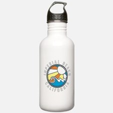 Imperial Beach Wave Badge Sports Water Bottle