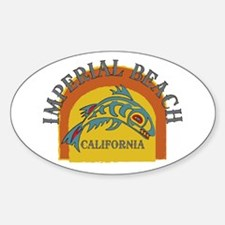 Imperial Beach Sunset Fish Sticker (Oval)