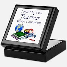 I Want to Be a Teacher Keepsake Box