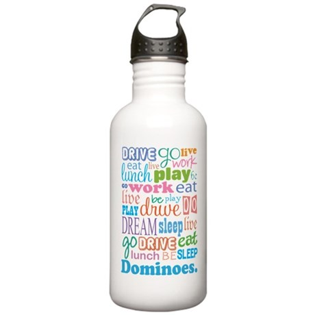 Dominoes Stainless Water Bottle 1.0L