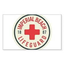 Imperial Beach Lifeguard Patch Decal