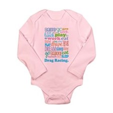 Drag Racing Long Sleeve Infant Bodysuit