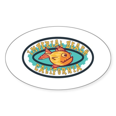 Imperial Beach Gearfish Patch Sticker (Oval)