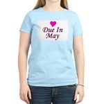 Due In May Women's Pink T-Shirt