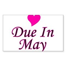 Due In May Rectangle Decal