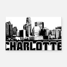 Charlotte Skyline Rectangle Car Magnet