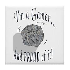 Proud Gamer Tile Coaster
