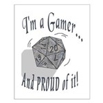 Proud Gamer Small Poster