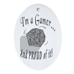 Proud Gamer Oval Ornament
